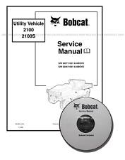 Bobcat 2100 S Utility Vehicle Workshop Service Manual CD + Download 6901987