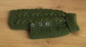 Hand Knitted Cabled Dog Coat