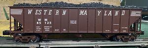 O Scale Lionel 6-27091 FACTORY ERROR Western Maryland 3-bay Open Hopper Die Cast