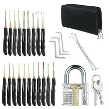 25-teiliges Dietrich Lockpicking Set mit transparenten Nachschließen