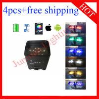 6*18W RGBWAUV Wireless IR Battery Power Wifi Led Par Light Stage Uplights 4pcs