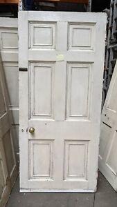 Heavy Reclaimed Georgian 6 panel wooden door