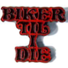 BIKER TIL I DIE HAT OR JACKET PIN pin361 new jacket lapel metal bike motorcycle