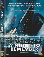 A Night to Remember (1958, Roy Ward Baker) DVD NEW
