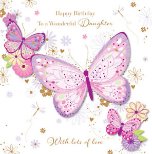 Wonderful Daughter Happy Birthday Greeting Card By Talking Pictures Cards