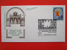 ENVELOPPE PREMIER VOL CONCORDE AIR FRANCE SALZBURG PARIS 23/4/1984 SCHWARTZ