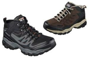 SKECHERS Men's Leather Trail Boots in Med & Extra Wide 4E