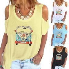 Plus Size Women Ladies Short Sleeve T-shirt Loose Tops Summer Tee Shirt Printed