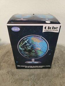 Illuminated Globe Of The World With Stand - 3 In 1 World Globe, Constellation
