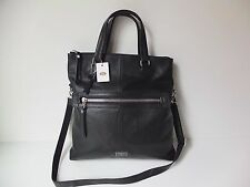 FOSSIL Dawson  black foldover/crossody  bag  brand new with tags