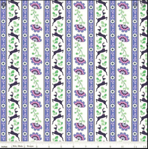 Riley Blake Lucy's Garden Christmas Reindeer Fabric 100% Cotton per 1/2m