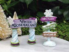Miniatura Giardino Mini Villaggio Neve Fata Frozen Natale Inverno Fiocco di Neve