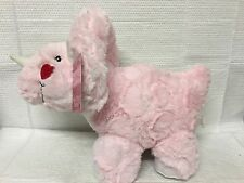 "PINK TRICERATOPS VALENTINE DINOSAUR PLUSH STUFFED ANIMAL 10"" RED & PINK HEART"