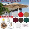 Terrassenschirm Sonnenschutz Gartenschirm Stoff Ersatzbezug UV-Schutz 3M