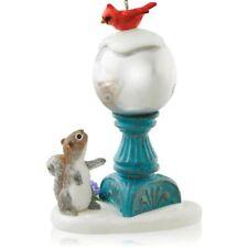 2014 Hallmark December'S Garden Ornament Gazing Ball with Squirrel & Cardinal