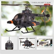 Fx070c 2.4g 4ch 6-axis Gyro Flybarless Md500 Scale Rc Helicopter 3 Month Item Us