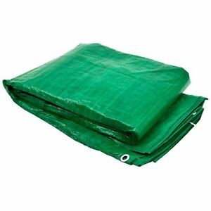 Tarpaulin Sheet Tarp Cover Ground Sheet Waterproof 2.7m x 3.5m TE648