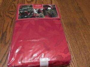 LENOX AMERIAN BY DESIGN HOLIDAYS RED HOLLY DAMASK TABLECLOTH 60 X 140 NIP