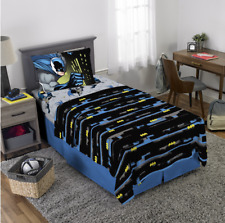 Batman Shadows 3 Piece Microfiber Twin Bedding Sheet Set & Pillowcase Kids