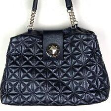 Kate Spade Astor Court Elena Black Quilted Leather Shoulder Bag Purse Turnlock