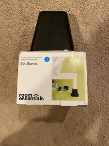 Bed stands Room Essentials Organize set Of 4 Black Durable Plastic Adds 5""