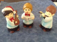 THREE Vintage Christmas Choir Boys Candles 5 inches. Beautiful