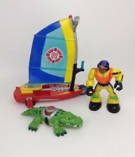 Rescue Heroes WindSurfing Water Vehicle Figure & Crocodile Fisher Price Lot
