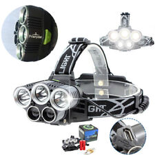 Headlamp 5 LED XM-L Headlight 15000lm Camp Hike Emergency Light Fishing Outdoor