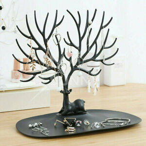 Necklace Ring Earring Deer Tree Stand Holder Show Rack Jewelry Display Organizer
