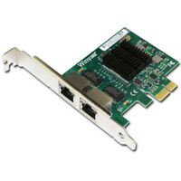 PCI-E x1 to 2 ports Gigabit Ethernet Network Card 10/100/1000Mbps LAN Adapter