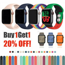NEW Sport Replacement Silicone Band Strap For Apple Watch Series SE 6 5 4 3 2 1