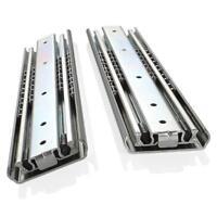 Heavy Duty Drawer Slides Ball Bearing 3 Sections Full Extension Detachable Rails