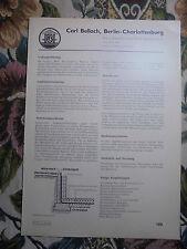 Reklame 189 / Biehn Grundwasser Hafen Berlin S-Bahn / Bellach Hansaviertel