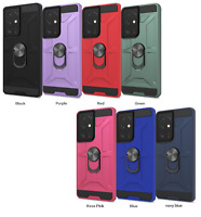 For Samsung Galaxy S21/ Plus /Ultra Case,Ring Kickstand+Temepred Glass Protector