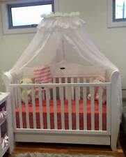 Baby Direct Sleigh Cot with 2 mattresses and multi settings