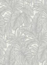 EUR 2,81/qm / Tapete Erismann Hacienda 5410-31 Floral Blätter Weiß Grau Glitzer