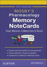 Mosby's Pharmacology Memory NoteCards: Visual, Mnemonic, 5th Edition ✅