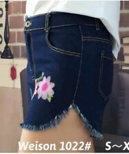 DENIM SHORT WITH PATCH (DARK BLUE) SMALL