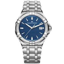 Maurice LaCroix Aikon Quartz Blue Dial Silver Oyster Steel Mens Watch RRP £750