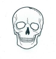 Aufnäher Aufbügler Applikation backpack motorrad biker totenkopf skull