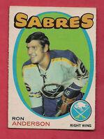 1971-72 OPC SABRES # 163 SABRES RON ANDERSON   CARD