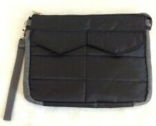 """Tablet Case Quilted 10"""" Quilted Padded Black Zip Closure Large Two Pockets New"""