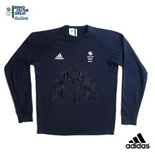 ADIDAS TEAM GB RIO 2016 OLYMPICS ATHLETE COLLEGE OF ARMS SWEATER  Size 34/36