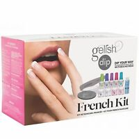 Gelish Soak Off French Tip Acrylic Powder Nail Polish Dip System Manicure Kit