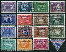 ICELAND 1930 1000 YEARS PARLIAMENT ALLTINGET OFFICIALS O53-O67 + CO1 PERFECT MNH