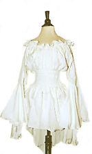 I-D-D Renaissance Medieval Peasant Dress Up Pirate Faire Mythic Blouse Cream