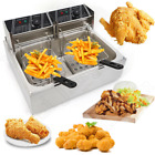 12L Electric Deep Fryer Single Tank Commercial Restaurant Stainless Steel 5000W photo