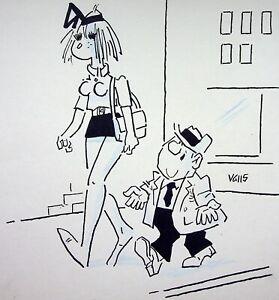 [Funny - Press] Guy Valls - La Drag : le Grand Love - Drawing Original Signed
