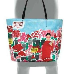 NWT Kate Spade Aqua-Red-Pink Beautiful 'Be Mine Rose Market' Hallie, PXRU7411