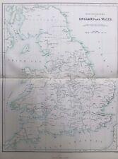 1868 Antique Map; Inland Navigation, England & Wales - William Hughes